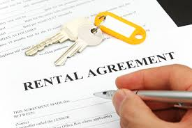 Rental agreement being signed